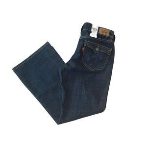 Levis 515 Flare Jeans Blue Dark Wash Mid Rise